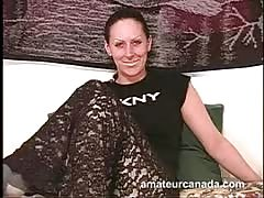 Smiling brunette is a hot mature that's dreaming about cocks