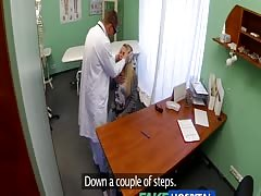 FakeHospital Dizzy young blonde takes a creampie