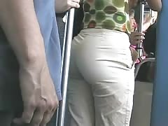 Candid Beautiful Boty in Bus