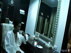 Soapy Thai ladyboy massage