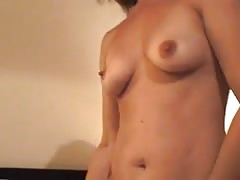 Wifey gets on cock and rides .