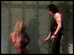 Handcuffed bitch used by master