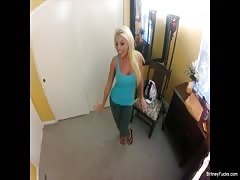 Hot blonde Britney gets a POV fucking to remember