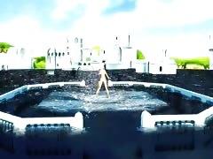 MMD Nude Water Dance