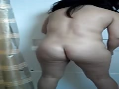Desi Indian NRI Bhabi cleaning Our Batroom HD personal