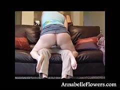 Busty milf Annabelle Flowers is getting fucked like a cowgirl