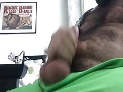 Cute Hairy Cub Jerks Off & Cums