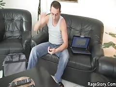 Slutty blonde takes deep anal fucking