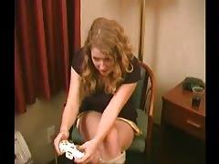 Flashing Gamer Chick