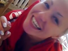 Bulgarian blonde girl blowjob