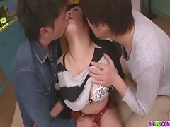 A busty asian blowjob and fucking with Kyouka Mizusawa