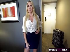 MomsTeachSex - Jerking Off To My Step Mom And She Wakes Up! S9:E6