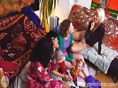 Completely shameless chicks in the scene with Abby Winters