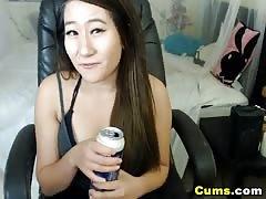 Busty Asian Babe Loves to Masturbate