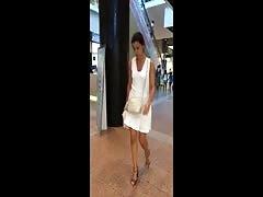 girl in white upskirt